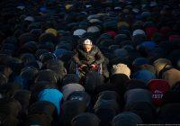 Мигрантский намаз в Москве